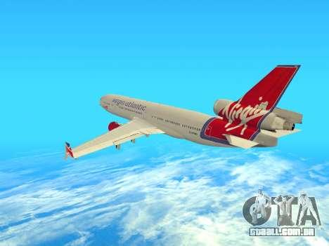 McDonnell Douglas MD-11 para GTA San Andreas vista direita