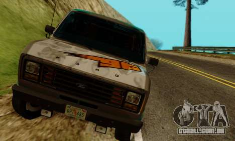 Ford E-150 GT-Shop para GTA San Andreas vista traseira