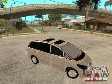 Toyota Estima KZ Edition 4wd para GTA San Andreas vista direita