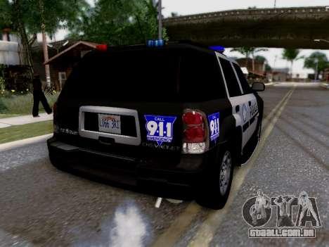 Chevrolet TrailBlazer Police para GTA San Andreas interior