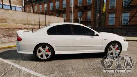 Ford Falcon XR8 Police Unmarked [ELS] para GTA 4 esquerda vista