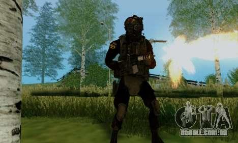 Kopassus Skin 2 para GTA San Andreas quinto tela