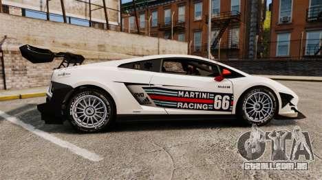 Lamborghini Gallardo LP570-4 Martini Raging para GTA 4 esquerda vista