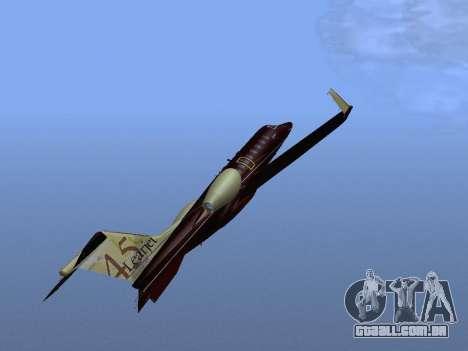 Bombardier Learjet 45 para GTA San Andreas vista superior