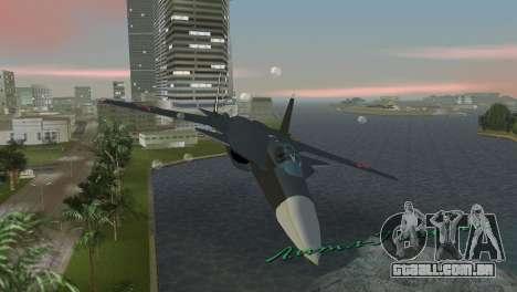 O Su-47 Berkut para GTA Vice City vista interior