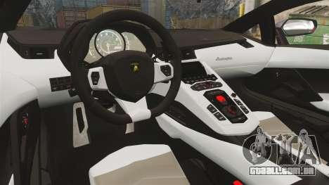 Lamborghini Aventador LP700-4 2012 [EPM] Jake para GTA 4 vista interior