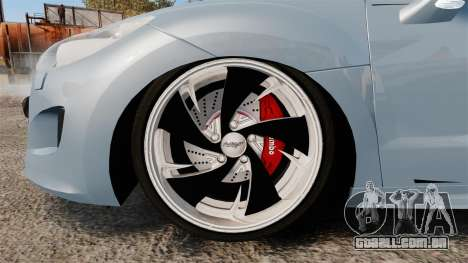 Peugeot RCZ para GTA 4 vista de volta