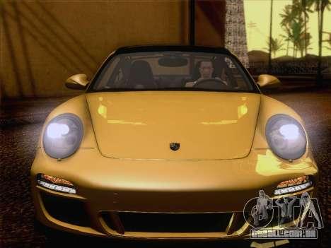 Porsche 911 Targa 4S para GTA San Andreas vista interior