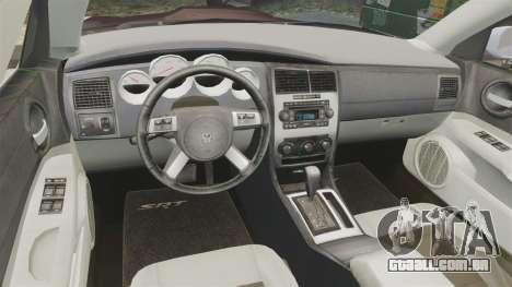 Dodge Charger SRT8 2007 para GTA 4 vista de volta