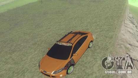 Ford Focus Sedan Hellaflush para GTA San Andreas esquerda vista