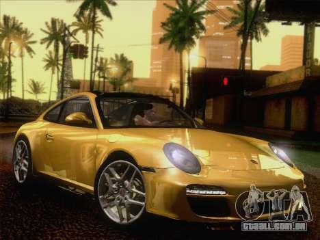 Porsche 911 Targa 4S para GTA San Andreas traseira esquerda vista