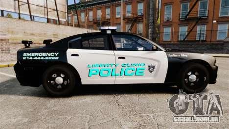 Dodge Charger 2011 Liberty Clinic Police [ELS] para GTA 4 esquerda vista