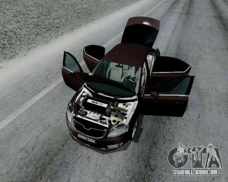 Skoda Octavia A7 para GTA San Andreas vista traseira