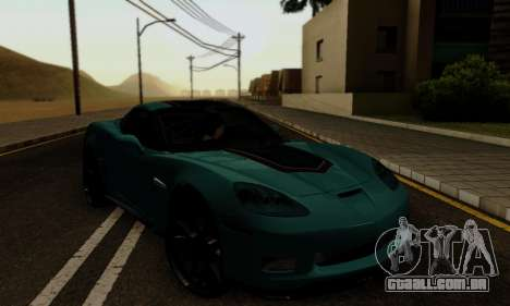 Chevrolet Corvette Grand Sport 2010 para GTA San Andreas vista interior