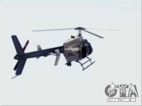 Bell 407 SAPD para GTA San Andreas esquerda vista