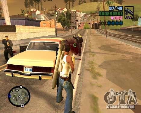 C-HUD Vice Sity para GTA San Andreas quinto tela