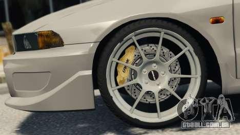 Mitsubishi Galant8 VR-4 para GTA 4 traseira esquerda vista