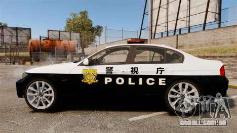 BMW 350i Japanese Police [ELS] para GTA 4 esquerda vista