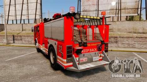 Fire Truck v1.4A LSFD [ELS] para GTA 4 traseira esquerda vista