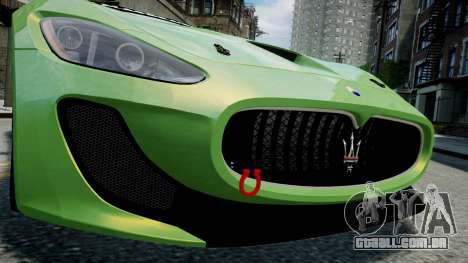 Maserati GranTurismo MC 2009 para GTA 4 vista interior