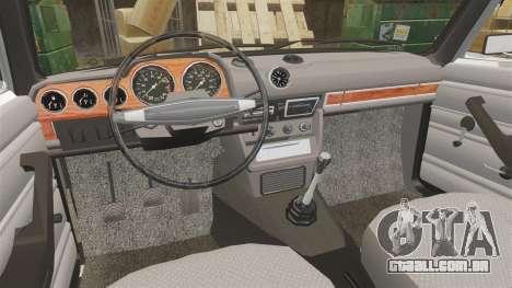 VAZ-2106 Instalado [Fim] para GTA 4 vista interior