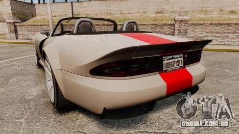Bravado Banshee new wheels para GTA 4 traseira esquerda vista
