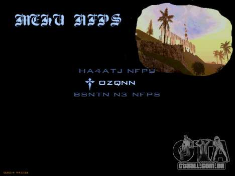 Menu San Andreas 2014 para GTA San Andreas
