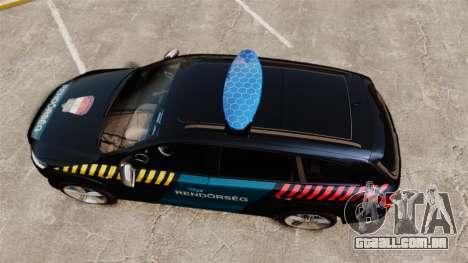 Audi Q7 Hungarian Police [ELS] para GTA 4 vista direita