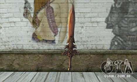 Espada para GTA San Andreas segunda tela