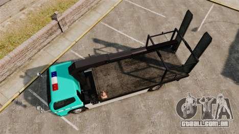 Mitsubishi Fuso Canter Japanese Auto Rescue para GTA 4 vista direita