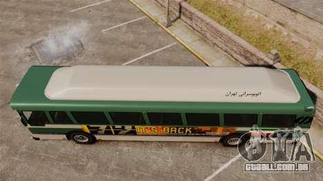 Iraniano pintura de ônibus para GTA 4 vista direita