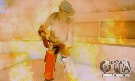 Resident Evil Apocalypse S.T.A.R.S. Sniper Skin para GTA San Andreas sexta tela
