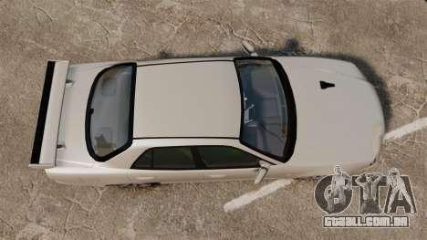 Nissan Skyline ER34 GT-R para GTA 4 vista direita