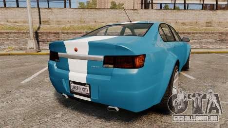 GTA V Cheval Fugitive new wheels para GTA 4 traseira esquerda vista