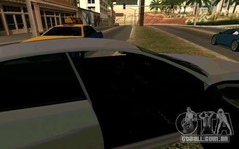 GTA V Obey Tailgater para GTA San Andreas traseira esquerda vista