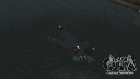 O Su-47 Berkut para GTA Vice City vista traseira