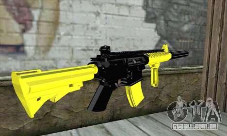 Yellow M4A1 para GTA San Andreas segunda tela