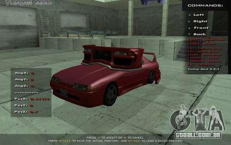 Tuning Mod 0.9 para GTA San Andreas terceira tela