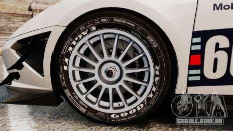 Lamborghini Gallardo LP570-4 Martini Raging para GTA 4 vista de volta