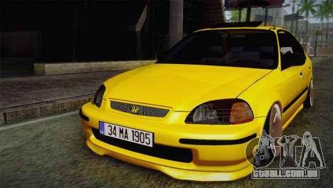 Honda Civic Edit Mehmet ALAN para GTA San Andreas
