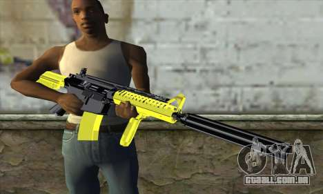 Yellow M4A1 para GTA San Andreas terceira tela