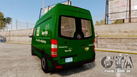 Mercedes-Benz Sprinter 2500 2011 Hungarian Post para GTA 4 traseira esquerda vista