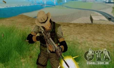 Resident Evil Apocalypse S.T.A.R.S. Sniper Skin para GTA San Andreas segunda tela