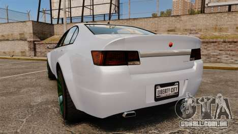 GTA V Cheval Fugitive new wheels para GTA 4 traseira esquerda vista