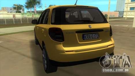 Suzuki SX4 Sportback para GTA Vice City vista traseira esquerda