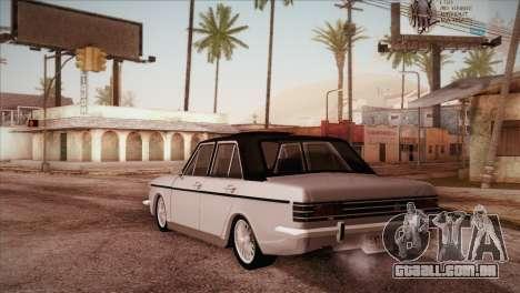 Peykan 48 Blackroof para GTA San Andreas traseira esquerda vista