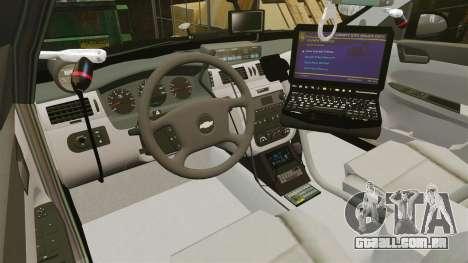 Chevrolet Impala 2010 LS Unmarked K9 Unit [ELS] para GTA 4 vista de volta