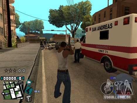C-HUD Rifa in Ghetto para GTA San Andreas por diante tela