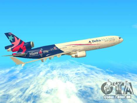 McDonnell Douglas MD-11 Delta Airlines para GTA San Andreas vista traseira