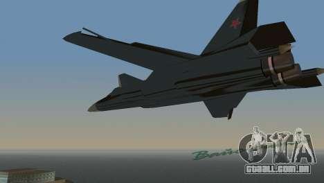 O Su-47 Berkut para GTA Vice City vista direita